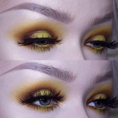 LOVED wearing yesterday's eye look! It's bright but neutral at the same time, perfect for autumn and those lashes got me screaming inside ♥ EYES: @juviasplace Zulu Palette (yellow, warm brown) @nyxcosmetics Eyeshadow in 'Butterscotch' and Shadow Stick in 'Dangerously' (in waterline) @katvondbeauty Saint & Sinner Palette shade 'Exodus' @eyeko Bespoke Mascara @rouge.and.rogue 'Slayer' lashes EYEBROWS: @eyeko All-in-One Brow Game Changer in 'Medium' and Tinted Brow Gel - - - #bold #makeup #k...
