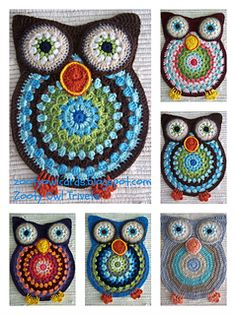 Zooty Owl Trivets - hot pads.