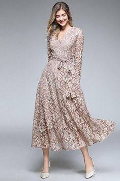 <img> Luxury Lace Long Dress Vintage V-neck Casual Dresses — Chicloth Source by - Dresses Elegant, Simple Dresses, Vintage Dresses, Casual Dresses, Lace Dresses, Awesome Dresses, Short Dresses, Dress Lace, All Star Branco