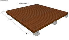 Detailed woodworking project about deck plans free. Building a small free standing deck is a project that will liven up the look of your garden. Floating Deck Plans, Building A Floating Deck, Building Design Plan, Deck Building Plans, Building Ideas, Ground Level Deck, How To Level Ground, Cool Deck, Diy Deck