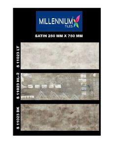 S_11023_HL2 - Millennium #Tiles 250x750mm (10x30) Digital Ceramic #Satin #WallTiles    - S_11023_LT   - S_11023_HL2   - S_11023_DK