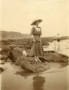 On the beach, 1910s