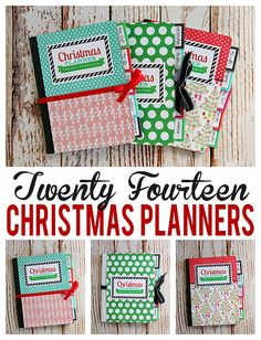 DIY Christmas Planner 2014 - made from a composition notebook - includes free printables!