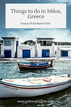 Things to do in Milos, Greece - Islands to visit in Greece - Greece Itinerary - Milos, Greece - Itinerary for Milos, Greece