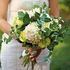 "Fresh Foliage Bouquet | Fresh foliage, which can be gathered from your own yard, adds a loose and casual feel to a bouquet. Plus, greenery (often called ""filler"") is much less expensive than traditional blooms. 