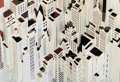 Ingrid Siliakus Creates Intricately Layered Architectural Models Using Just One Sheet of Paper