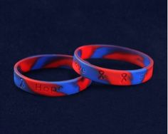 Red & Blue Silicone Bracelets. These bracelets are 8 1/4 inches in circumference. Packaged 50 bracelets per pack. Product Code: SILB-33