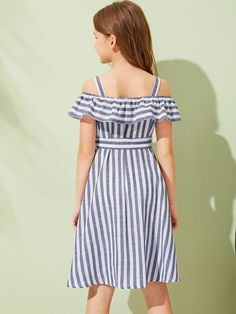 Girls Foldover Front Pocket Front Dress With Strap – Kidenhouse African Dresses For Kids, Dresses Kids Girl, Girl Outfits, Girls Fashion Clothes, Girl Fashion, Fashion Dresses, Houndstooth Dress, Striped Dress, Cord Pinafore Dress