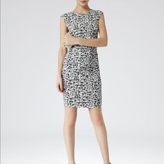 Reiss Rica Print Jersey Printed Dress Size 6