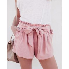 8ecef0358 Summer Shorts Women Lady Sexy Shorts High Waist Casual Shorts With Bow  Shorts Trousers WS7578M