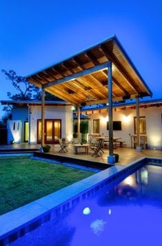 patio roof drains to roof of house. Josh Wynne Construction - modern - pool - tampa - josh wynne construction