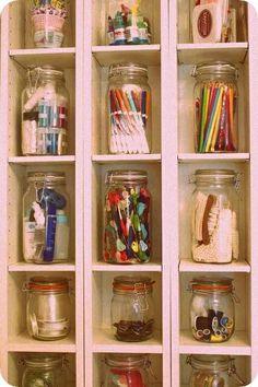 frascos súper útiles para la organización!