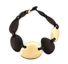 Buffalo Horn Necklace Natural Lacquer Link charm by Dungcraft