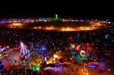 Burning Man in Black Rock Desert, Nevada