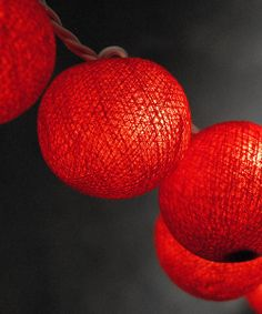 Take a look at the Red Sisal Ball Lantern Light String on #zulily today!