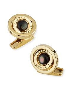 793020b07b9c DUNHILL Gyro Cufflinks with Black Mother of Pearl. #dunhill Black Mother,  Mother Pearl