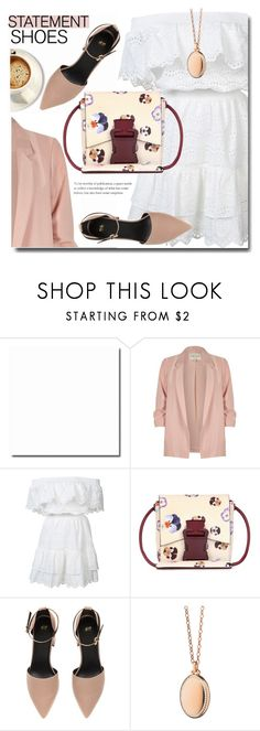 """""""Happy spring"""" by soks ❤ liked on Polyvore featuring River Island, LoveShackFancy, Christopher Kane, Monica Rich Kosann and polyvoreeditorial"""