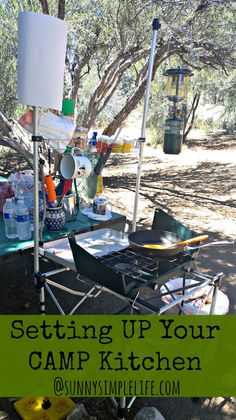 How to set up a camp kitchen, organized camping