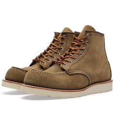 "Red Wing 8881 Heritage Work 6"" Moc Toe Boot (Olive Mohave)"