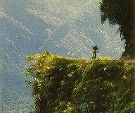 """A pura adrenalina, turistas se lanzan por """"ruta de la muerte"""" en Bolivia"""