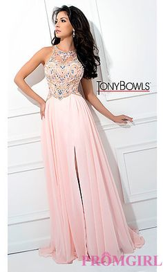 700055548d9 Long Racer Back Illusion Sweetheart Tony Bowls Prom Dress