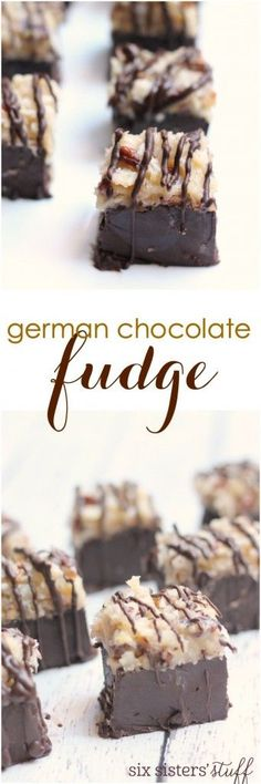 This german chocolate fudge is a sinfully delicious dessert for the holidays. Recipe from Six Sisters' Stuff