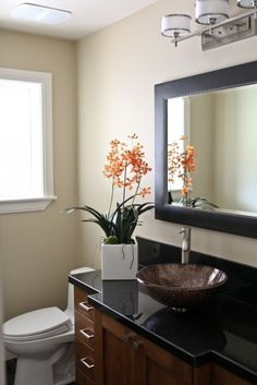 Powder Bath Vanity - traditional - bathroom - salt lake city - Denise Glenn Interior Design