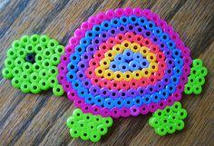 Perler Bead Colorful Turtle