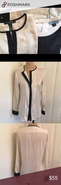 2 designer blouses Cynthia Rowley & Ralph Lauren S You get both blouses. Each worn a couple times. They were originally around $140 total. Cynthia Rowley Tops Blouses