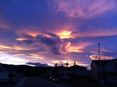 Gorgeous sunset in Whitehorse, Yukon