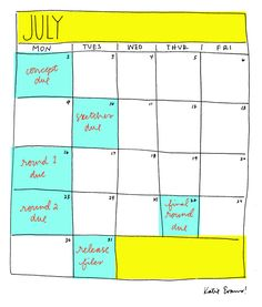 How to work out a timeline for yourself - via @designlovefest