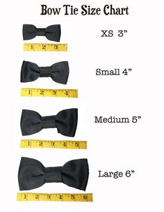 Classic Hound Collar Co. | Bow Tie Size Chart  #dogbowtie #dapperdog
