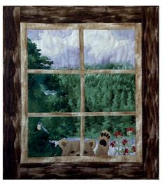 Hello?! And Anybody Home?! quilts by McKenna Ryan. Features Enchanted Pines by McKenna Ryan.