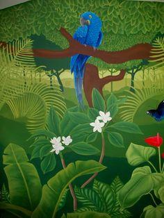 Jungle mural - Macaw!
