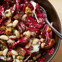 1.03-1.09 Cleanse Lunch - Radicchio Salad with Beans, Figs, and Walnuts