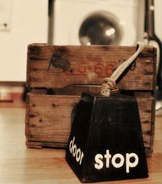 door stopper--cute idea!