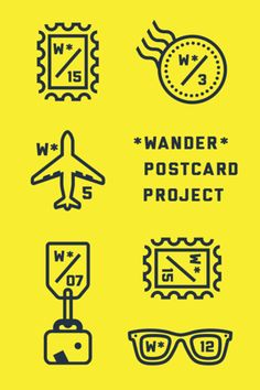 Nice travel icons and type combination.