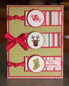 "Handmade Christmas Card, Stampin' Up ""Holiday Sampler"""