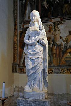 Statua della Vergine col Bambino (Chiesa di Santa Maria delle Grazie, Gravedona, Como)