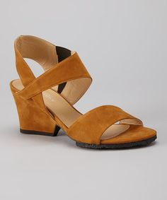 f7d43b73fc044 Walking on Air  Comfortable Shoes - Audley Tan Lala Sandal - Zulily Comfy  Shoes