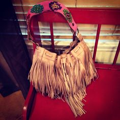 Two Bar West fringe purse
