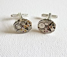 It's a very elegant classy gift for any occasion. They are x Comes with a free gift box! Watch Cufflinks, Steampunk Watch, Groom And Groomsmen, Groomsman Gifts, Vintage Watches, Beautiful Hands, Free Gifts, Crafts, Accessories