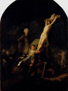 Rembrandt. The Elevation of the Cross. 1633.