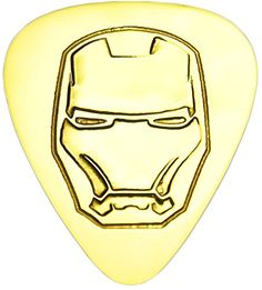 """myLife Hard Luxury """"Round Tip"""" Guitar Pick Made of Genuine Solid Brass {Yellow Gold Colored """"Iron Man Head"""" - Perfect for Creating Dynamic Tones on Any Type of Acoustic or Electric Guitar} [Single Pack] myLife Brand Products http://www.amazon.com/dp/B00VVTC386/ref=cm_sw_r_pi_dp_5Mdmvb17ZWZ80"""
