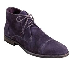 Cole Haan Purple Suede Vincenti Captoe Boot...need to have this!