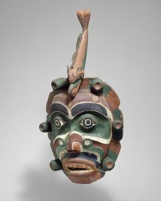 1920-1925 Kwakwaka'wakw (First Nations) Yagim Mask by George Walkus at the Metropolitan Museum of Art, New York
