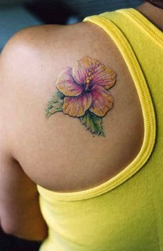 If I ever got a tattoo this would probably be it.  I love hibiscus!