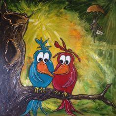 Fester, Acrylic Pouring, Animal Paintings, Illustration, Terrier, Bob, Doodles, Clip Art, Birds