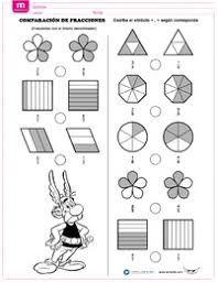 """Képtalálat a következőre: """"ejercicios de fracciones para colorear"""""""