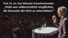 """""""Putin hat die Krim nicht annektiert."""" Prof. Dr. iur. Karl Albrecht Scha..."""